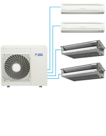 DAIKIN wall-mounted heat pump - Model Multi-zones